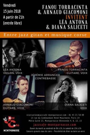 Paris : Un quartet corse  au Jazz Café Montparnasse
