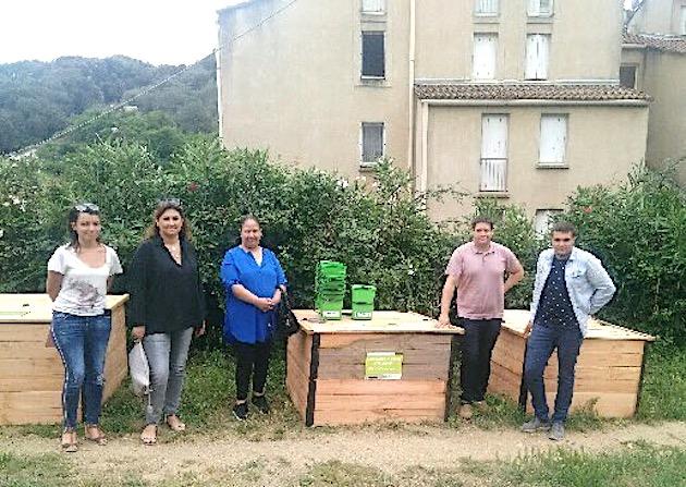 La première plateforme de compostage de centre-ville de Corse installée à Sartene