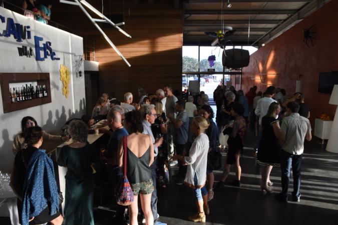 Vernissage de l'exposition Écosystème au clos Culombu