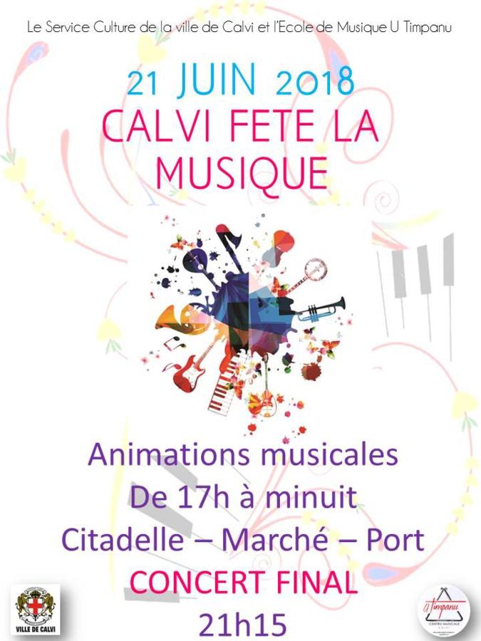 La Station touristique de Calvi va vivre le 21 juin aux rythmes de la Fête de la Musique