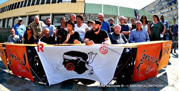 Conférence de presse de Corsica Libera / Photo DR