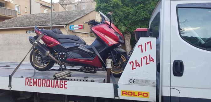 Miomu : Le scooter roulait à 124 km/heure en agglomération