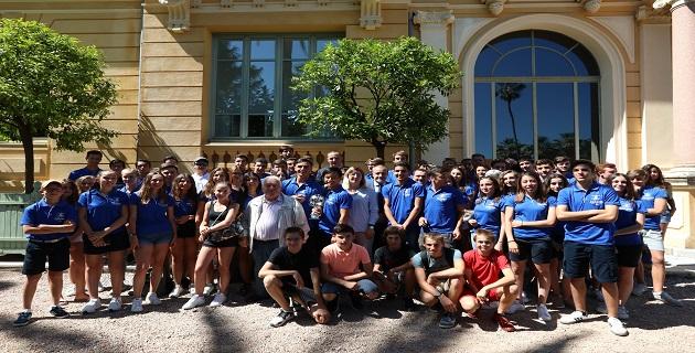 Les jeunes sportifs du Jeux des Iles et du Raid'Oxyjeunes Aventure 2018 reçu à la Collectivité de Corse.