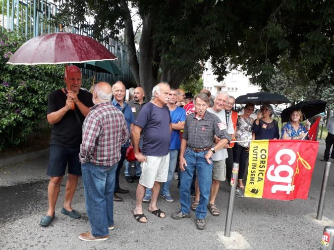 Bastia: La CGT malgré la pluie ,,,,