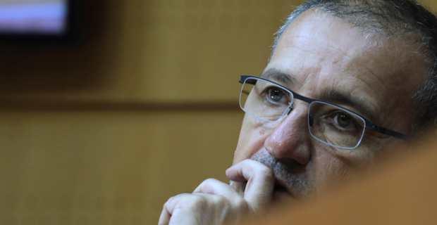 Le président de l'Assemblée de Corse, Jean-Guy Talamoni. Crédit photo M.L.