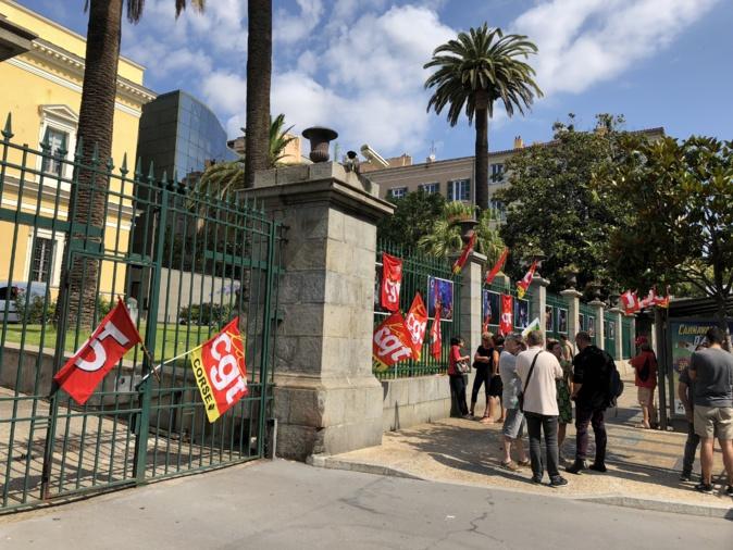 Manifestation symbolique de la CGT à Ajaccio