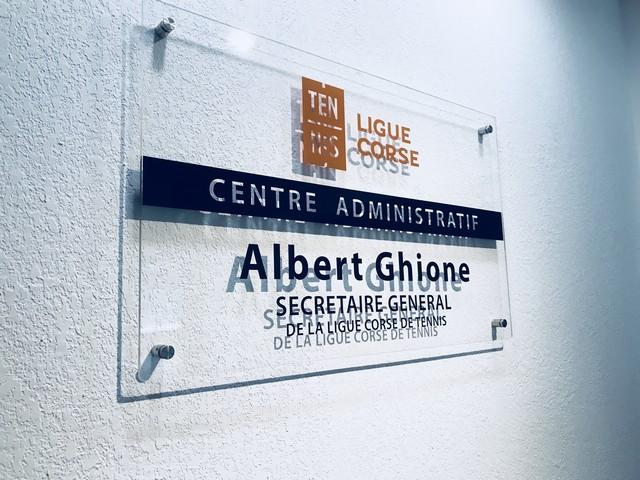 Lucciana : Le centre administratif de la Ligue Corse de Tennis porte le nom de Albert Ghione