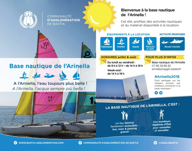 Bastia : L'ouverture de la saison à la base nautique de l'Arinella