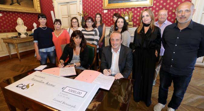 Laetitia Cucchi et Laurent Marcangeli ont signé la convention entre Inseme et la CICAS (Photos M.L)