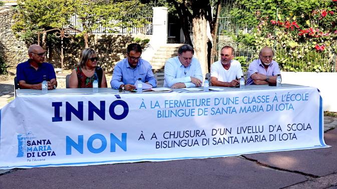 """Santa Maria-di-Lota : """"Innò à a chjusura d'un livellu d'a scola bislingua"""""""