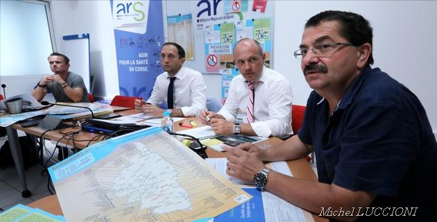 Conférence de presse de l'ARS sur la qualité des eaux de baignade en Corse