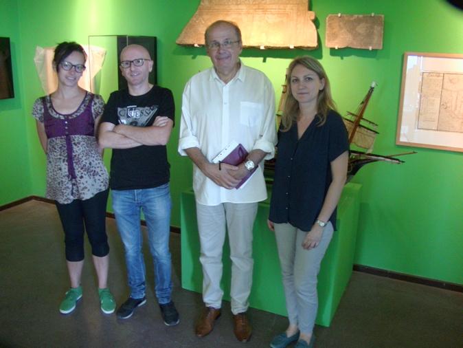 Philippe Peretti, à droite, Sylvain Gregori, à gauche, et son équipe ont mis en place une superbe exposition