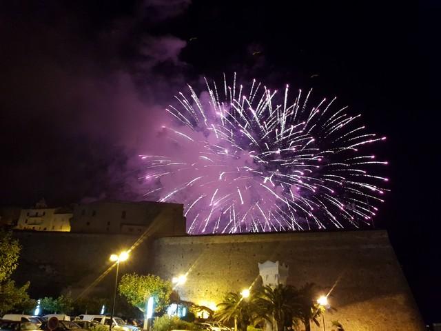 Feu d'artifice du 14 juillet à Calvi