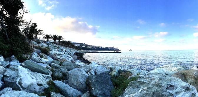 La photo du jour : Les enrochements du  front de mer bastiais