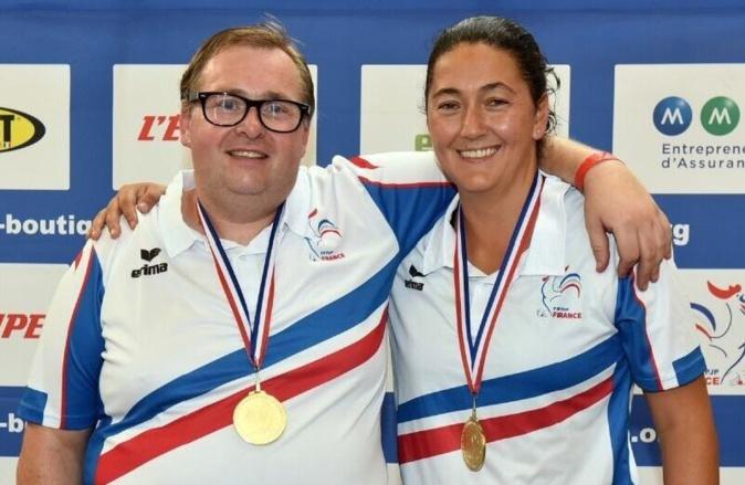 l'équipe Corse Stéphane Dath - Marie-Angèle Germain championne de France de pétanque double mixte