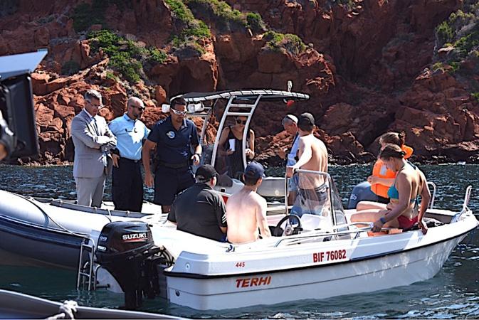 Opération de  prévention et de sécurité maritime dans la réserve naturelle de Scandula
