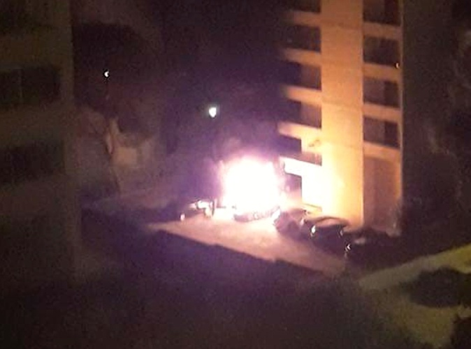 Ajaccio : La voiture incendiée explose