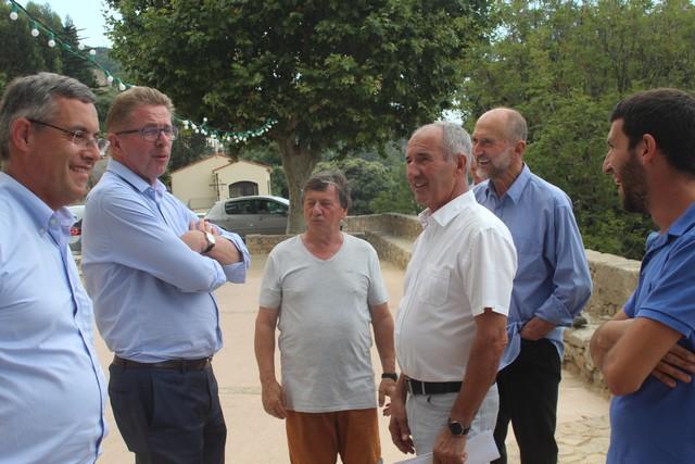 Le préfet de Haute-Corse à la rencontre des élus de Lavatoghju