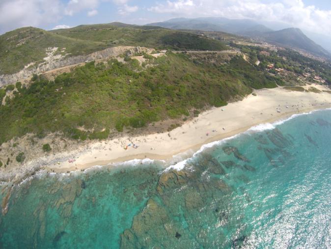 La photo du jour : La plage de L'Osari vue du ciel
