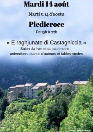 E raghjunate di Castagniccia : Un salon du livre et du patrimoine de Corse à Piedicroce