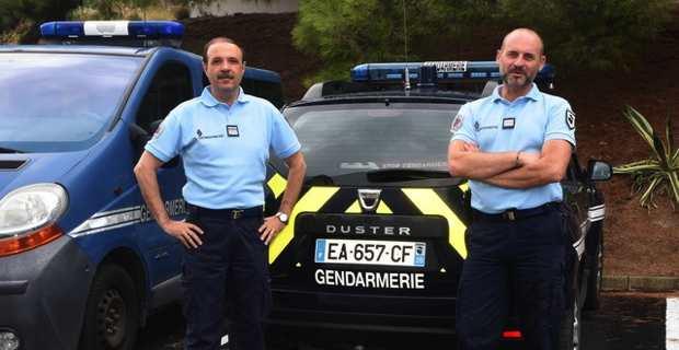 Le Cdt de Carvalho (à gauche) et son adjoint le Cpt Pascal Hervé ( Photos MSAV)