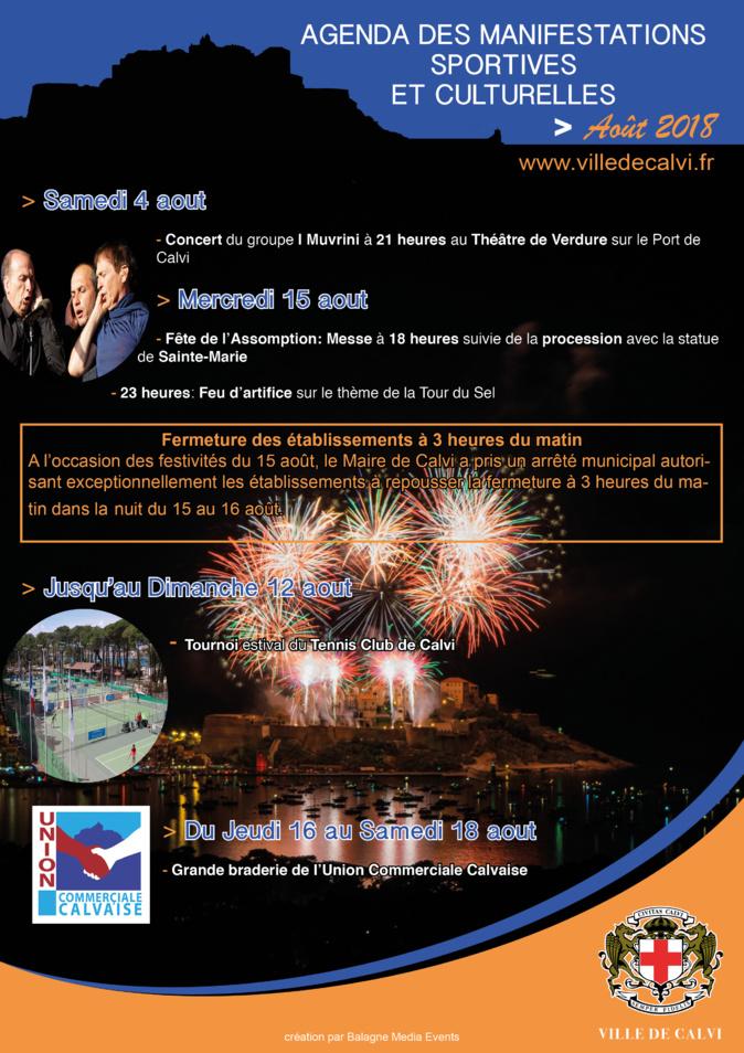 Calvi : La Tour du Sel, vedette du Feu d'Artifice du 15 août