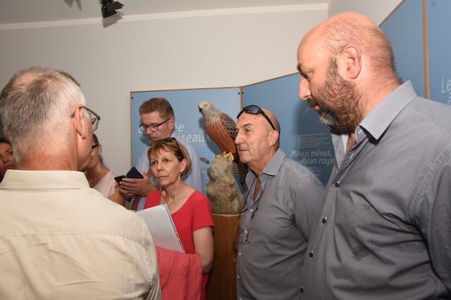 La préfète de Corse, Josiane Chevalier, avec le maire de Belgudè, conseiller exécutif de Corse, et président de l'ODARC.