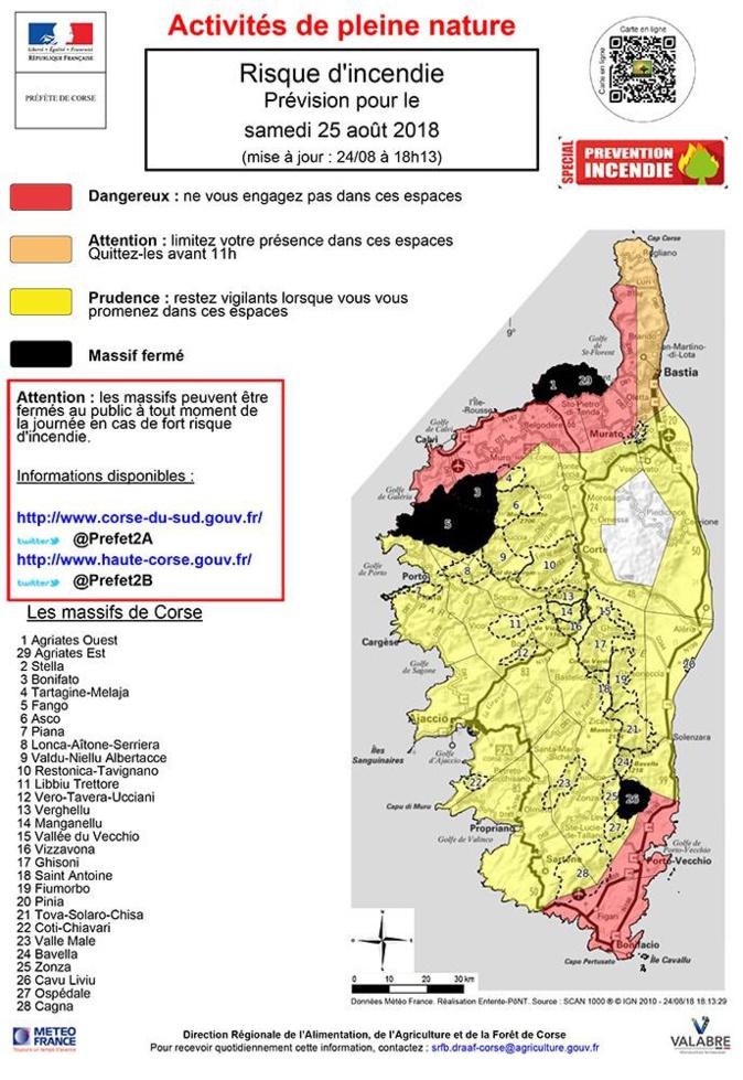Risque Incendie : Fermeture des massifs des Agriates, de Manso et Bonifato ce samedi 25 août