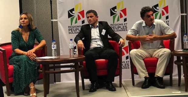 Le député de Haute-Corse, Jean-Félix Acquaviva, au congrès R&PS à Bayonne, en débat la constitutionaliste Wanda Mastor et le député breton, Paul Molac.