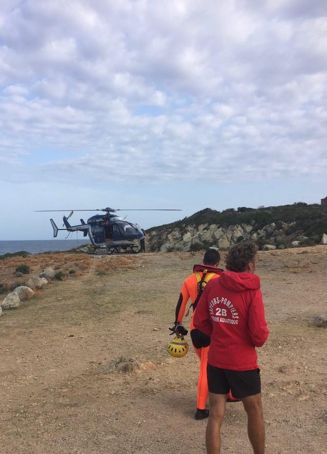 Galeria : Le corps de Claude Martini récupéré ce matin par les pompiers et l'hélicoptère de la gendarmerie