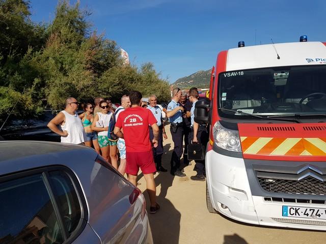 Baignade tragique d'Algajola : Un vacancier décédé et deux baigneuses médicalisées