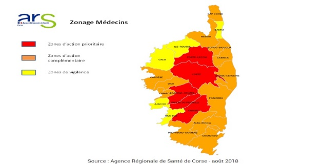 Le nouveau zonage des médecins libéraux en Corse : Renforcer l'accès territorial aux soins