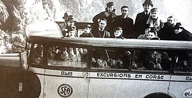 Les premières excursions en Corse
