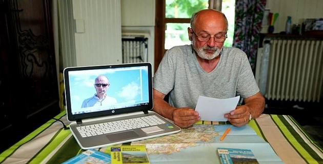 Capture d'écran de la vidéo de l'appel à témoin du père de Florian Bellin sur le site du Dauphiné Libéré
