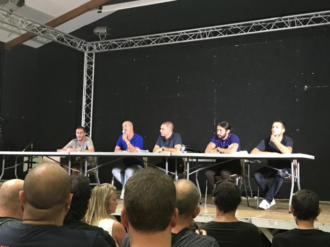 De gauche à droite : Stéphane Rossi, Pierre-Noël Luiggi, Claude Ferrandi, Loïc Capretti, Mathieu Chabert