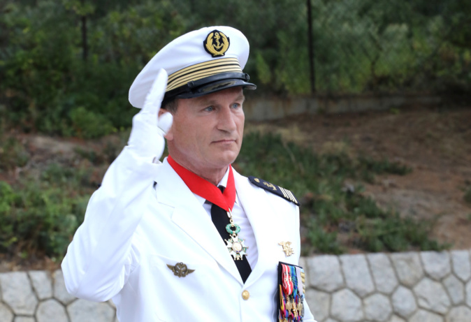Le capitaine de vaisseau Bertrand de Gaullier des Bordes (Photo Michel Luccioni)