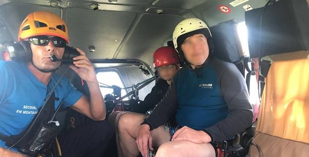 Manfred BAUER, 53 ans et son fils Rudy AICHINGER âgé de 11 ans  sains et saufs/ Photo Gendarmerie de Corse
