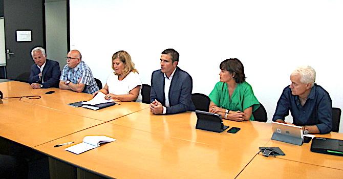 Jean-Martin Mondolini et les membres de son groupe Per l'Avvene ont évoqué les dossiers d'actualité