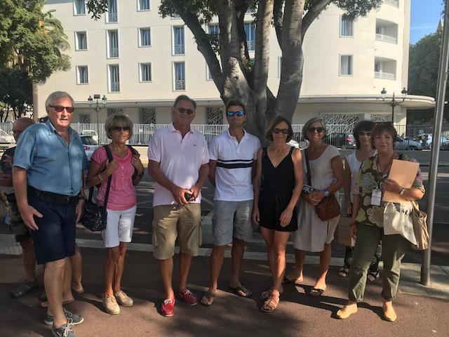 Stella Lacrimini et son groupe à la découverte du quartier nord de Bastia