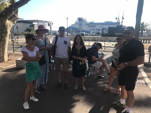 Parisa Paolantoni qui a animé la visite Bastia, ville européenne