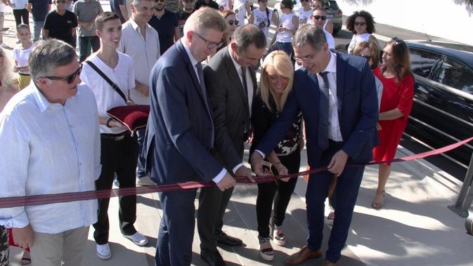 Inauguration officielle du Spassimare en présence du préfet de la Haute-Corse, Gérard Gavory, du président de l'Exécutif Gilles Simeoni et de Pierre Savelli, maire de Bastia et de ses adjoints