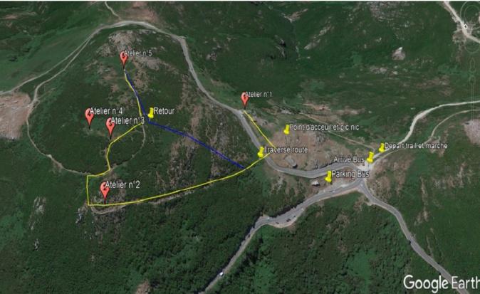 Les différents ateliers du col de Teghime