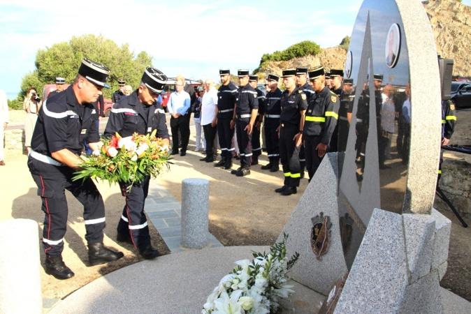 La mémoire des sapeurs-sauveteurs Cameau et Fauvel, honorée à Palasca