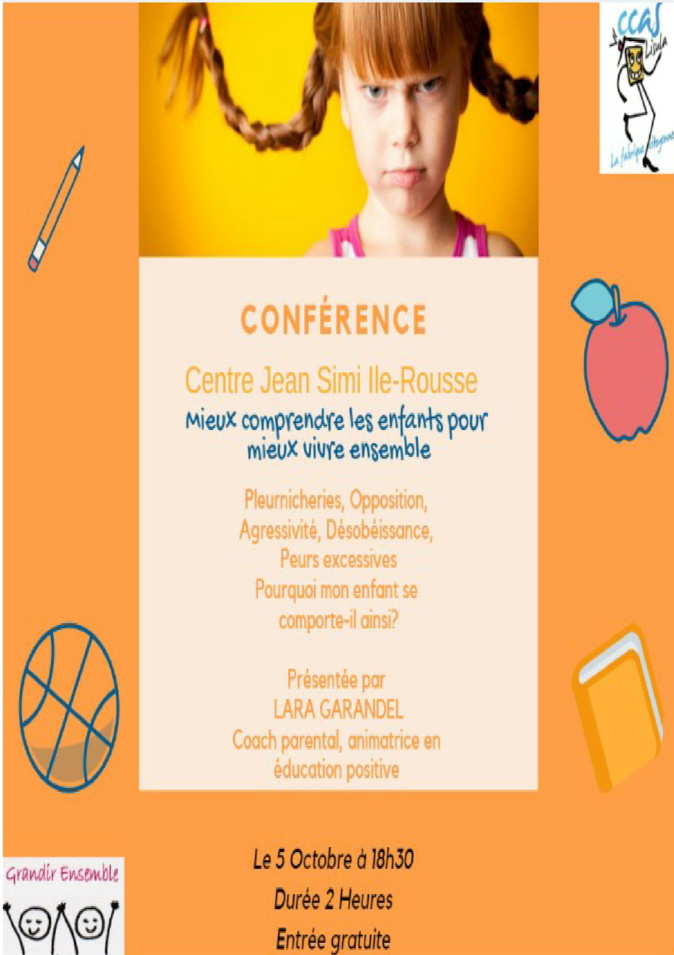 """Conférence à Lisula  sur le thème """" Mieux comprendre les enfants pour mieux vivre ensemble"""""""