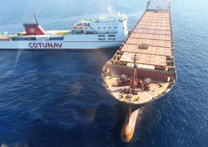 Collision maritime au large du Cap Corse : Brèche de plusieurs mètres dans l'un des deux navires et nappe autour