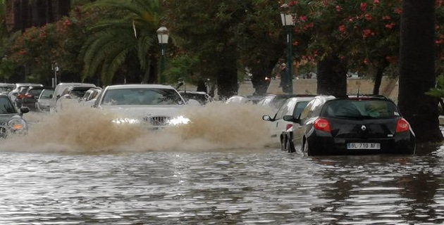 Déluge sur Ajaccio, certains quartiers inondés.