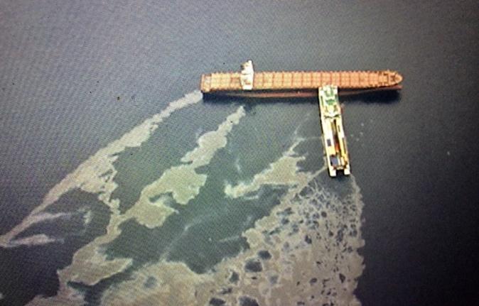 Collision maritime au large du Cap : L'image qui parle…