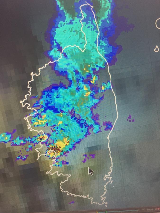 Orages et impacts de foudre ce dimanche entre 17h et 18h
