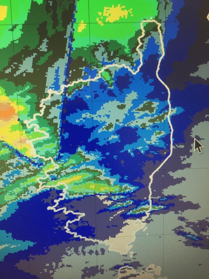 cumuls de pluie entre 17h et 18h