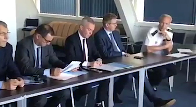 """François de Rugy : """"Comportement anormal du navire tunisien et pas de veille à la barre"""""""